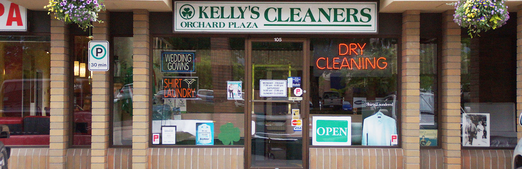 Kelly's cleaners - part of the Eco-Clean group of Kelowna based drycleaners